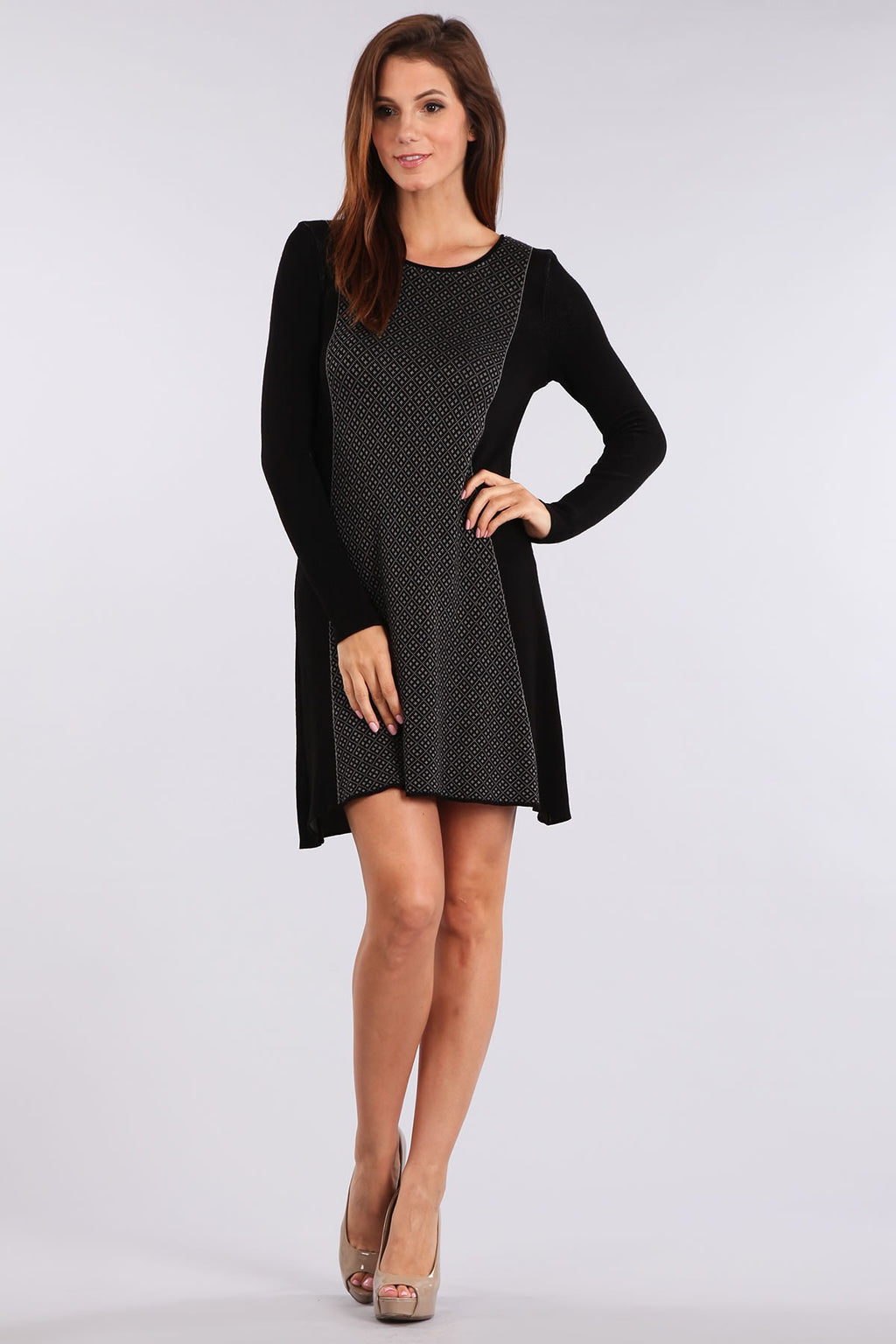 Bria Bella & Co - Black Long Sleeve Dress