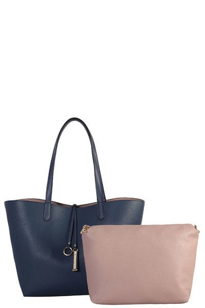 Bria Bella & Co - 2pc. Two-Tone Handbag Set