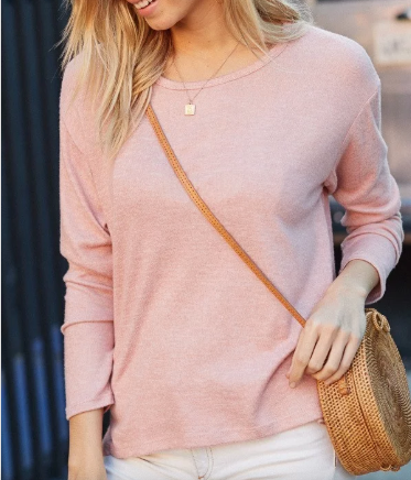 Bria Bella & Co - 2 Toned Blush Sweater