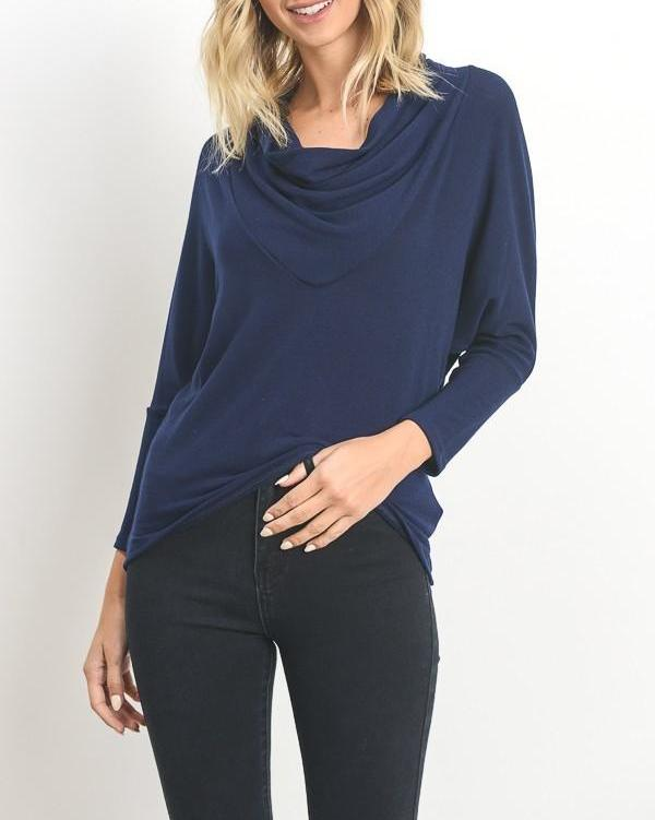 Cowl Neck Dolman Sweater