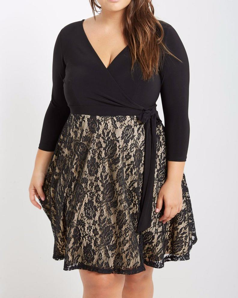 Black Lace Fit 'N Flare Dress