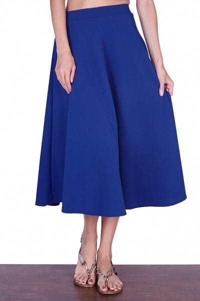 Bria Bella & Co - Fit 'n Flare Midi Skirt