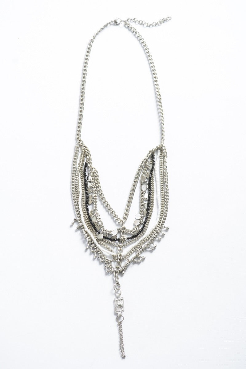 Multistrand Metal Necklace