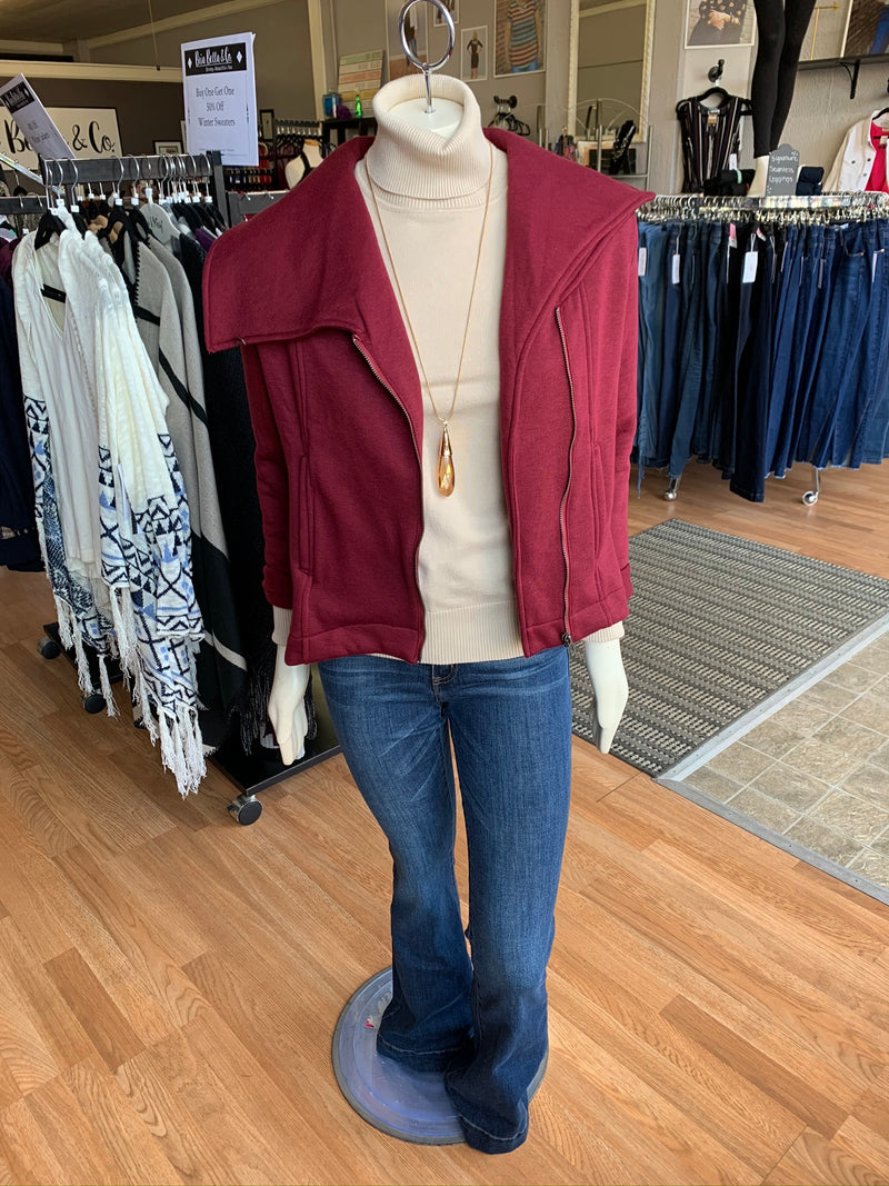 Bria Bella & Co - Pomegranate Moto Jacket