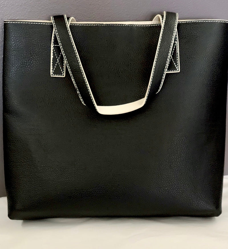 Reversible Two-Tone Shoulder Tote