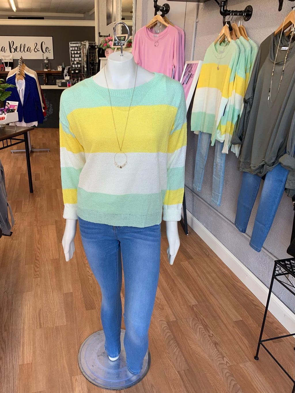 Spring Colorblock Sweater