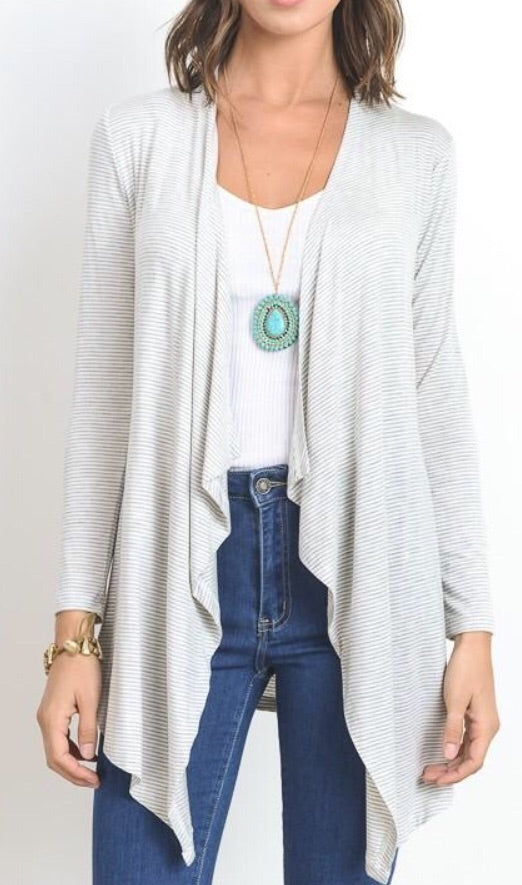 Open Front Layering Cardigan