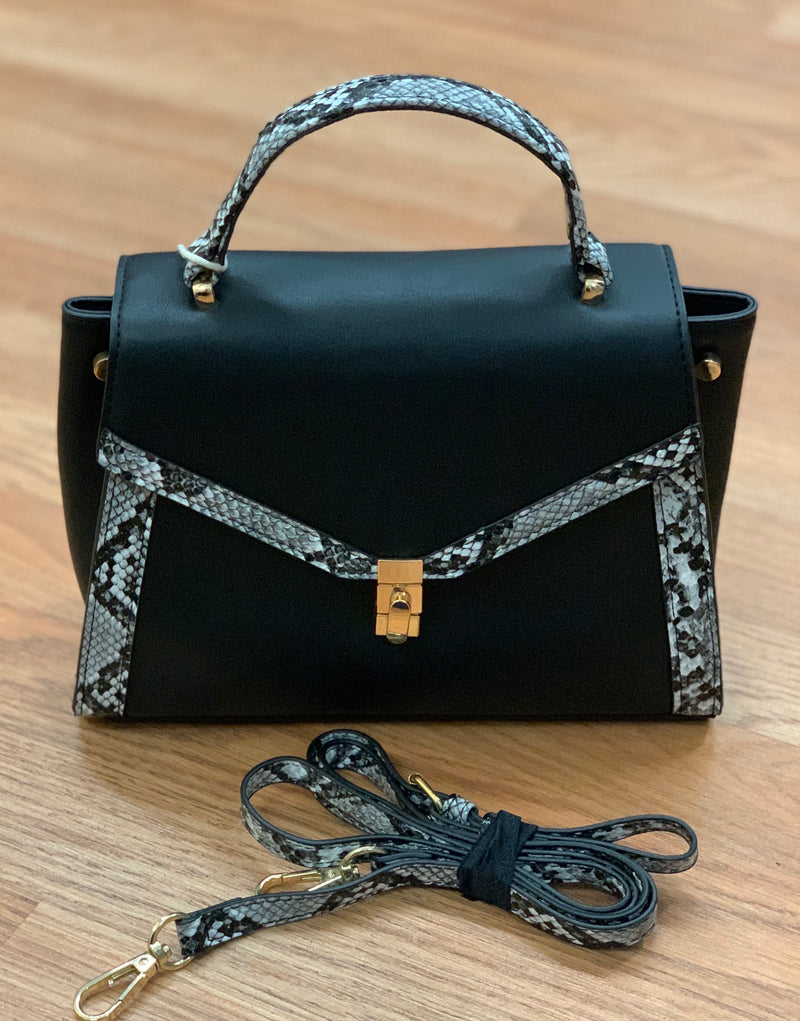 Python Detail Shoulder Bag
