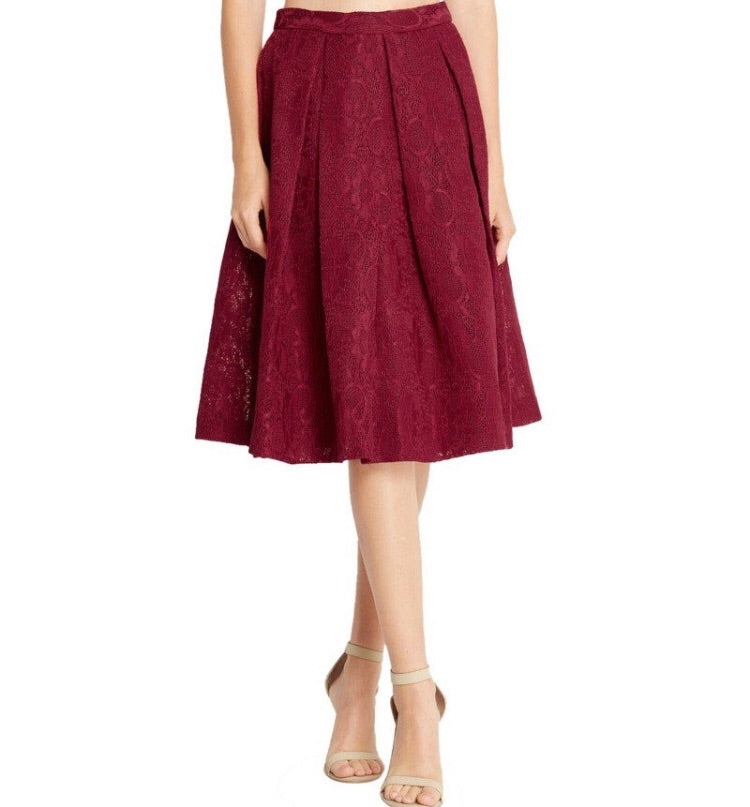 Bria Bella & Co - Burgundy with a Flare Skirt