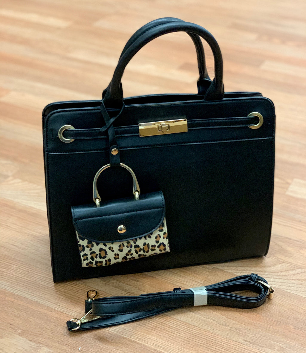 Bria Bella & Co - Classic Black Handbag & Clutch