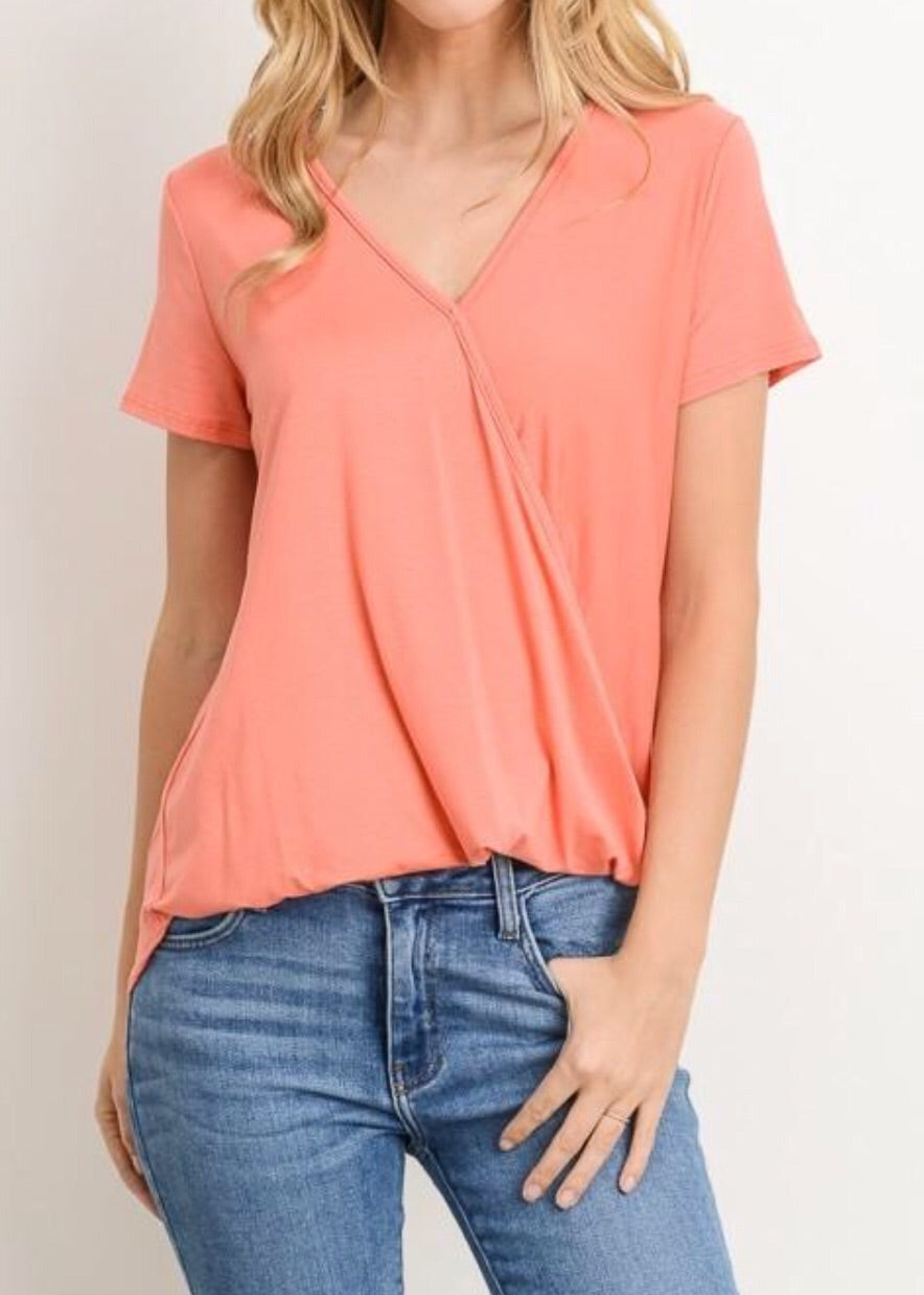 V-Neck Surplice Top