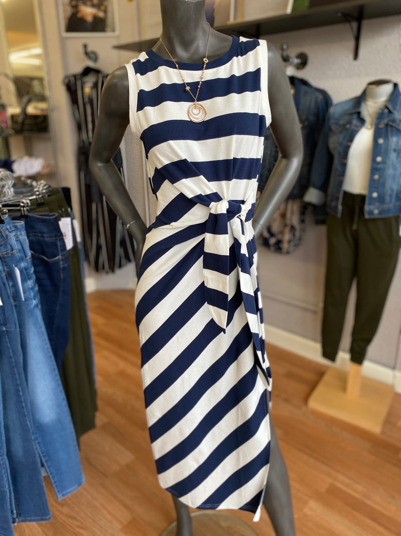 Bria Bella & Co - Nautical Stripe Dress