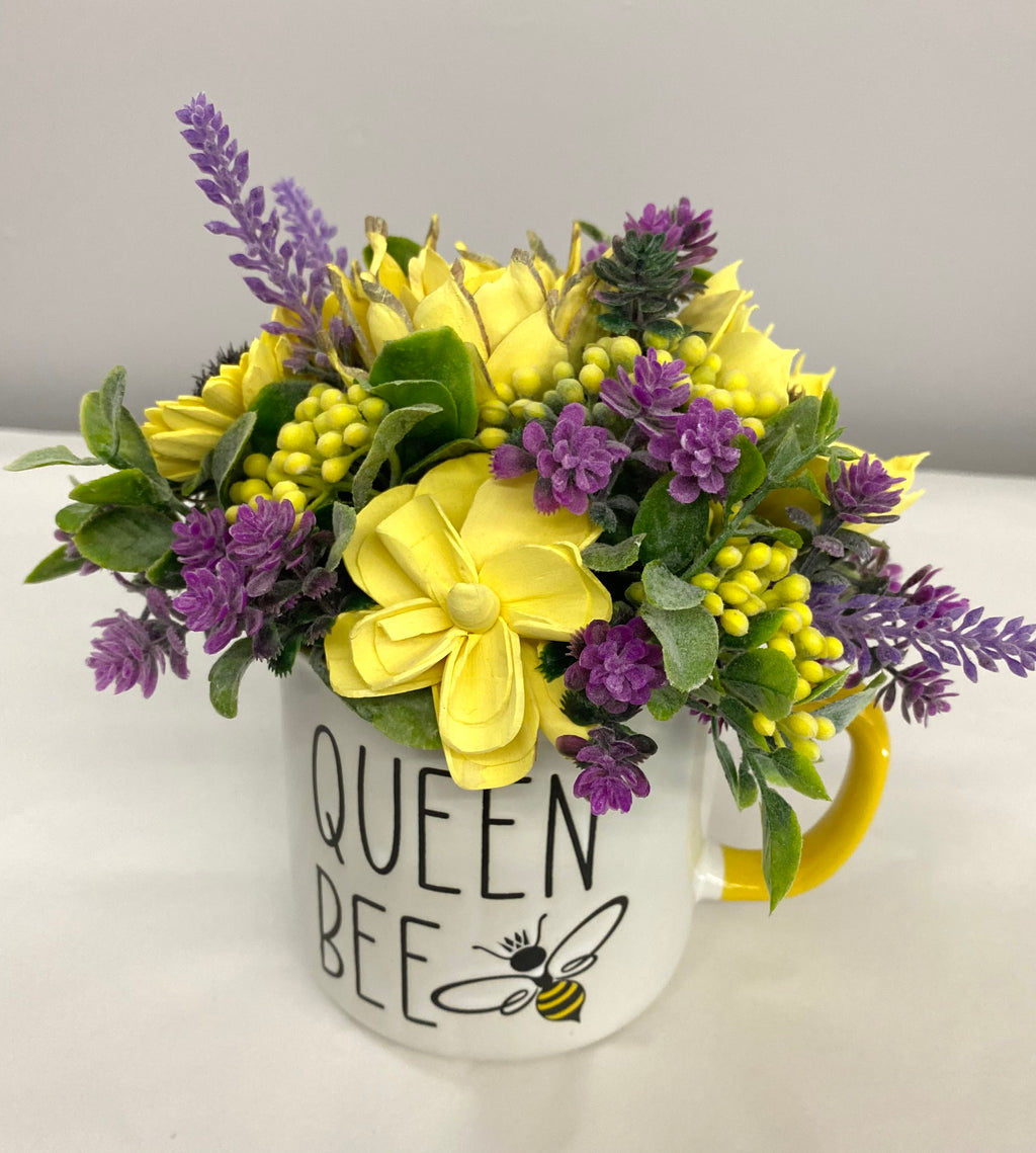 Wooden Florals - Queen Bee