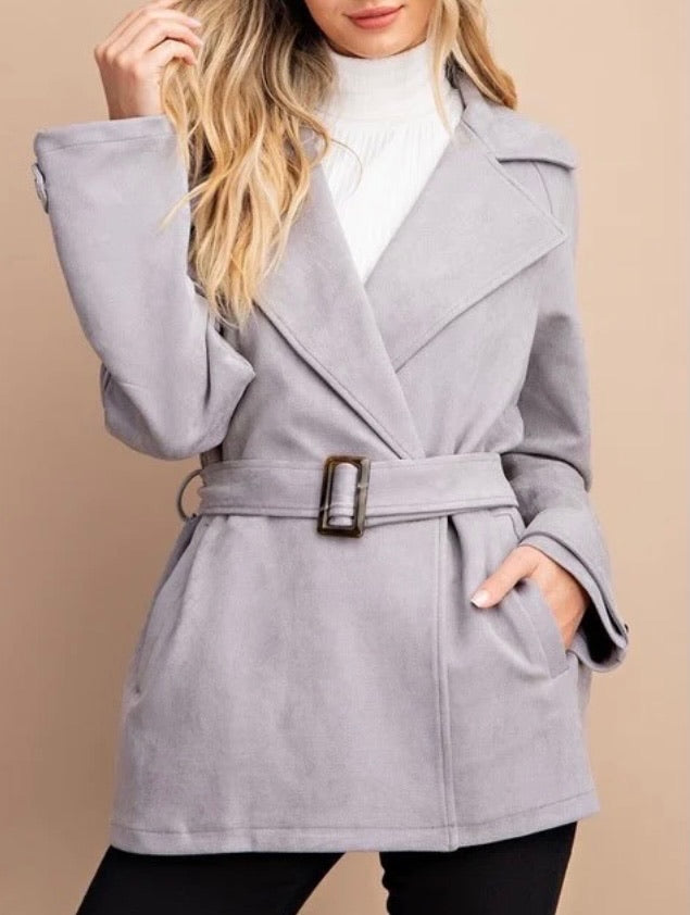 Sueded Trench Coat