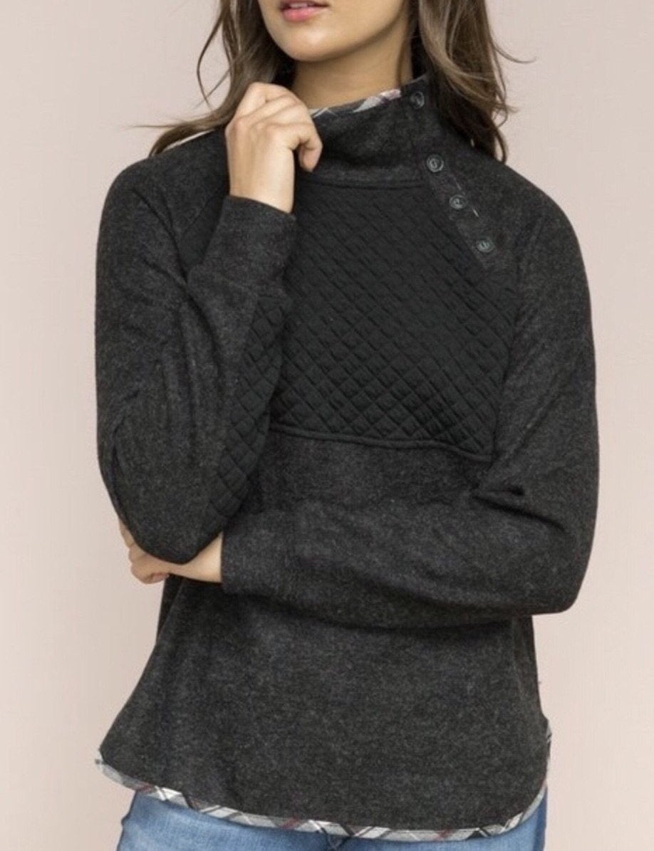 Quilted Pullover Sweater