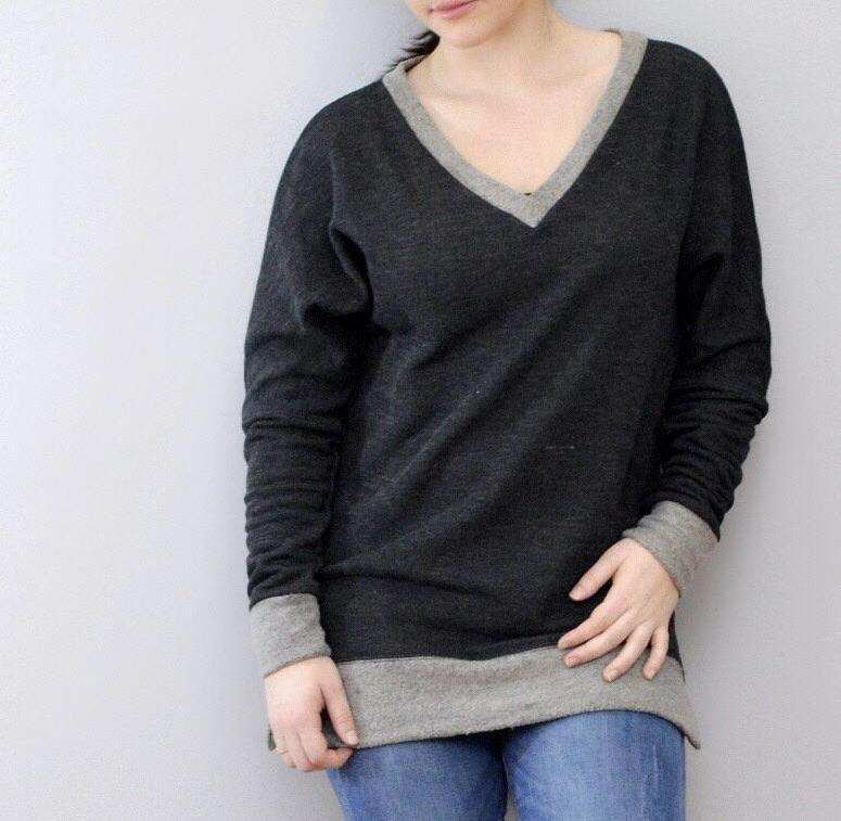 Bria Bella & Co - Comfy cozy V-Neck Sweater