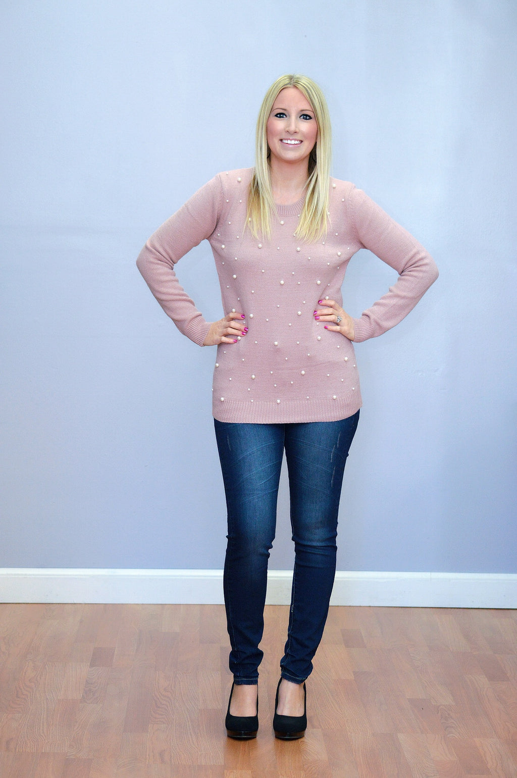 Bria Bella & Co - Blush Pearl Design Sweater