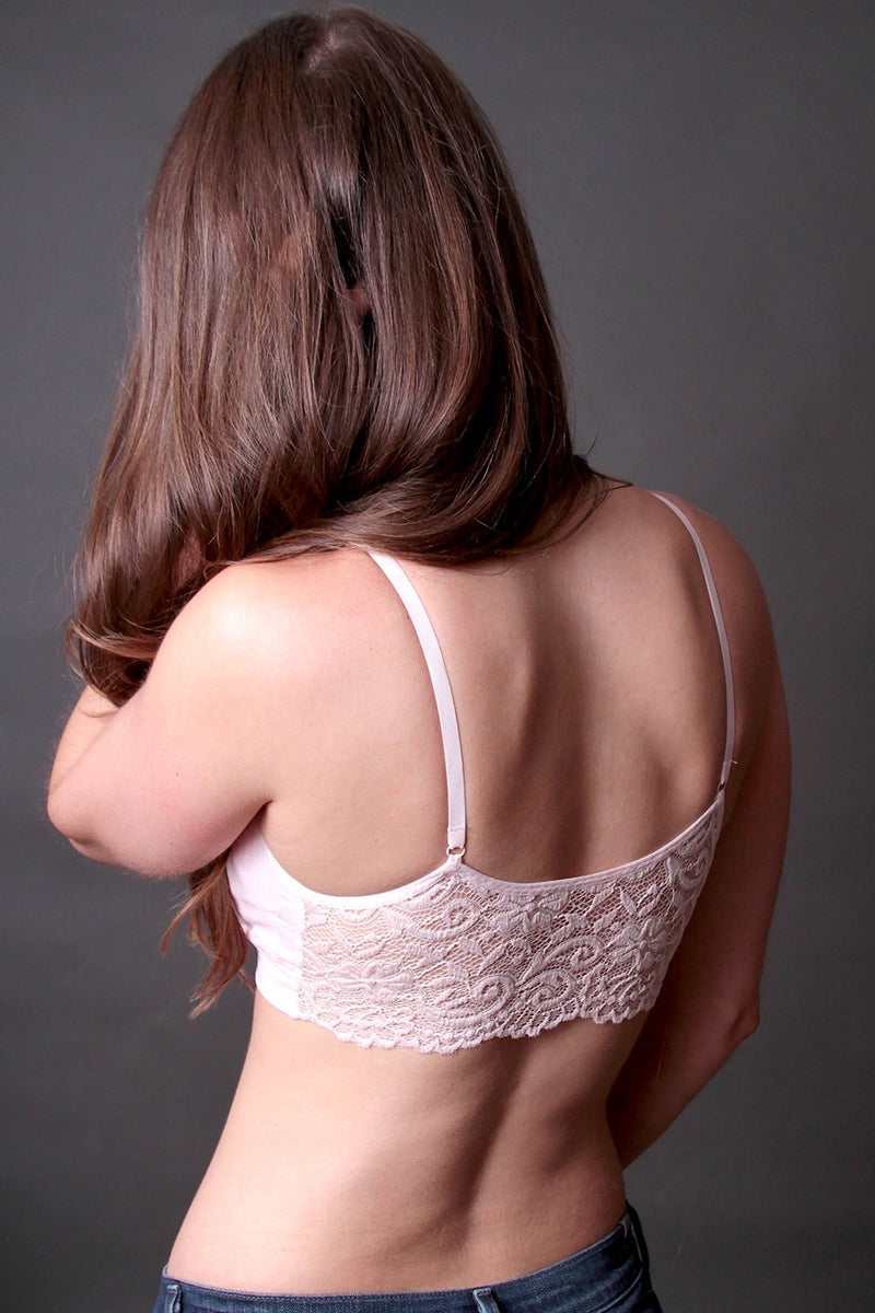 Bria Bella & Co - Lace Back Seamless Bra