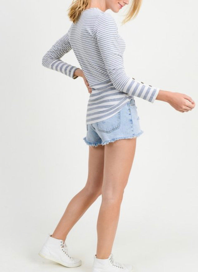 Lightweight Casual Striped Top