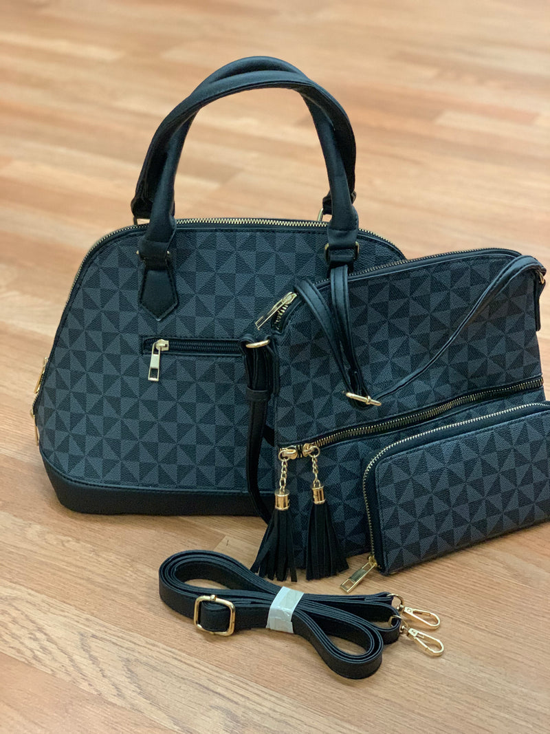 3-In-1 Patterned Handbag Set