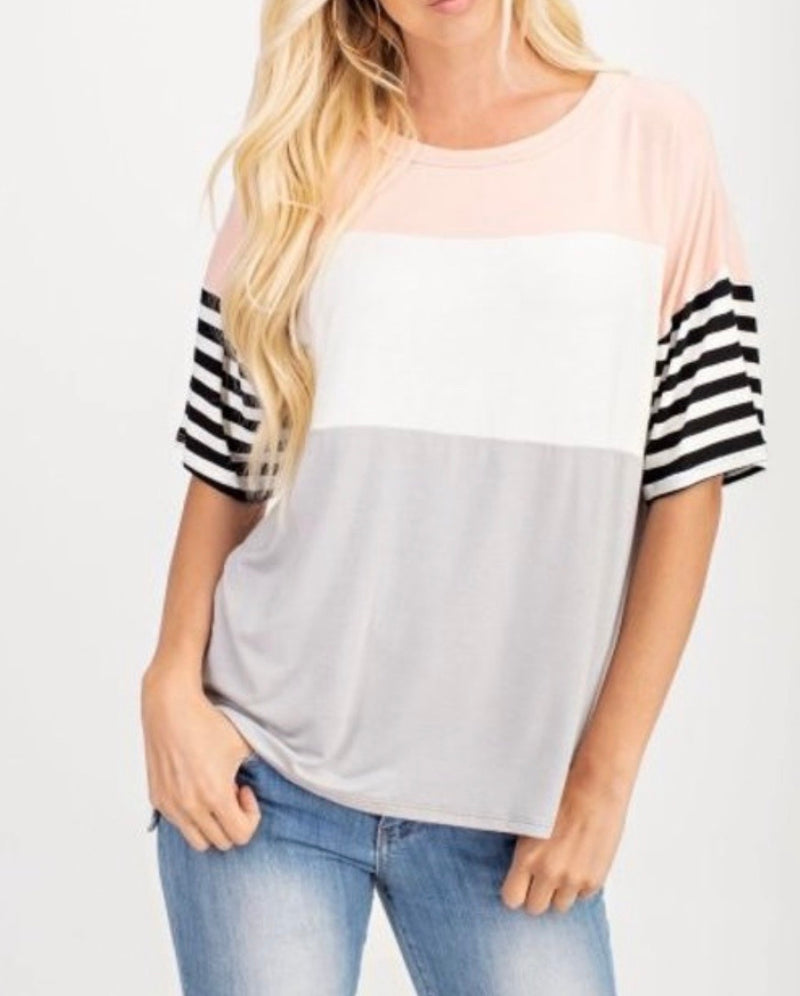 Bria Bella & Co - All the Stripes Tee