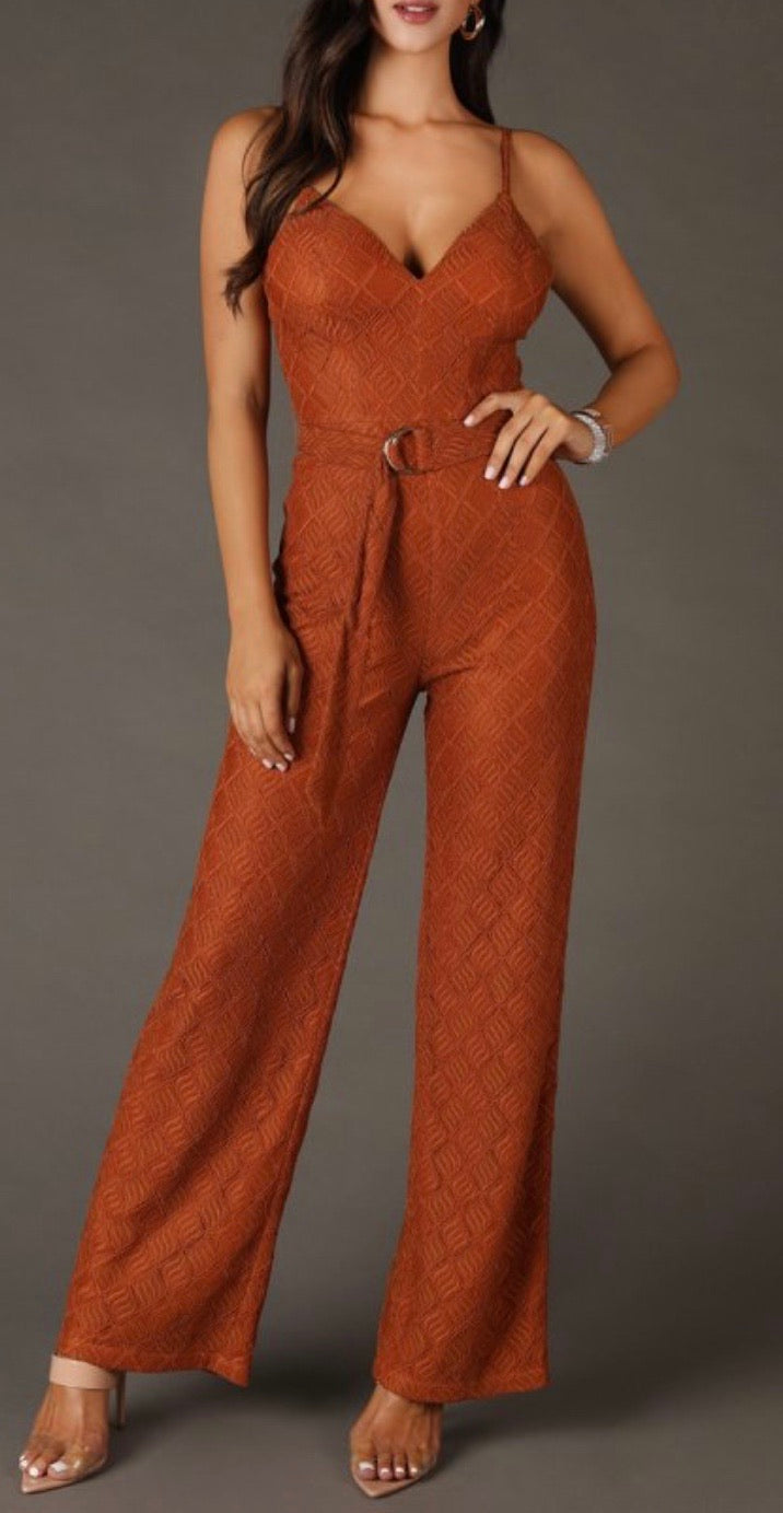 Bria Bella & Co - Belted Jumpsuit
