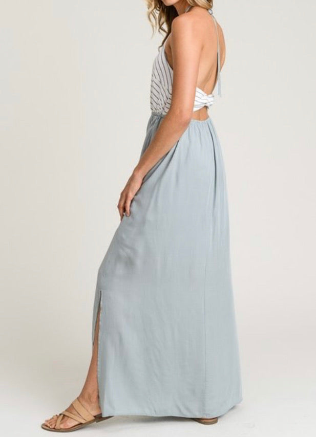 Bria Bella & Co - Chevron Open Back Maxi