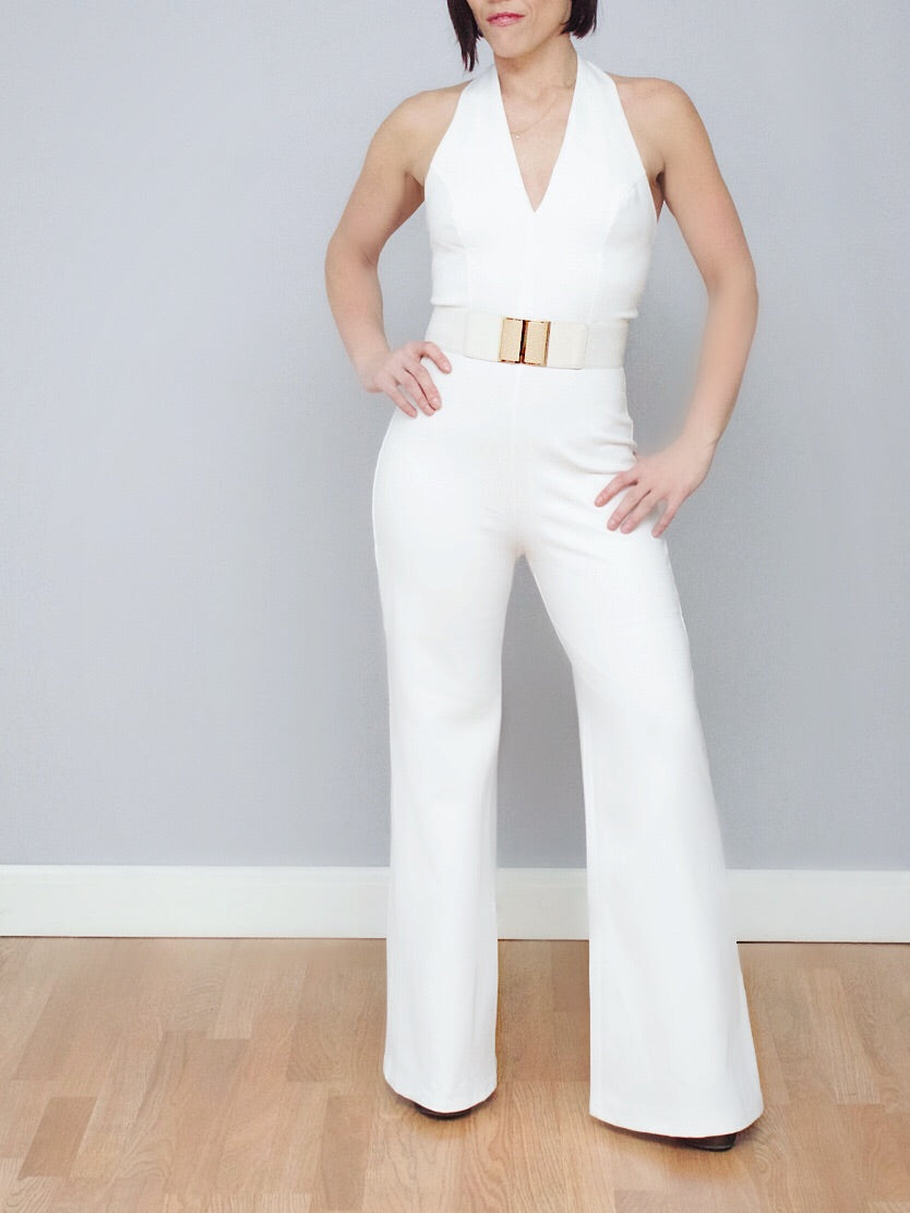 Glam White Jumpsuit
