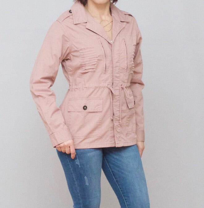 Bria Bella & Co - Blush Button-Up Spring Jacket