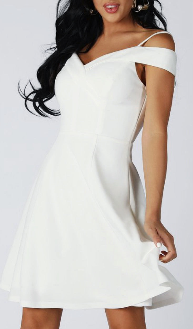 Bria Bella & Co - Fit n Flare Cross-Back Dress