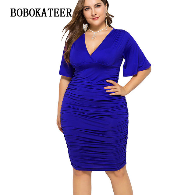 Robe Femme Bodycon Dress Plus Size Summer Dress Women Party Dresses Black  Casual Clothes Vestidos Mujer 2019