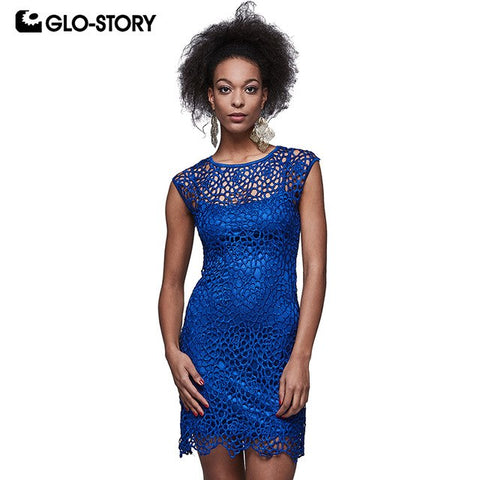 Women'S Summer Short Sleeve Bodycon Dresses Women Two Pcs Club Party Evening Lace Dresses Femme Vestidos Wyq-5853