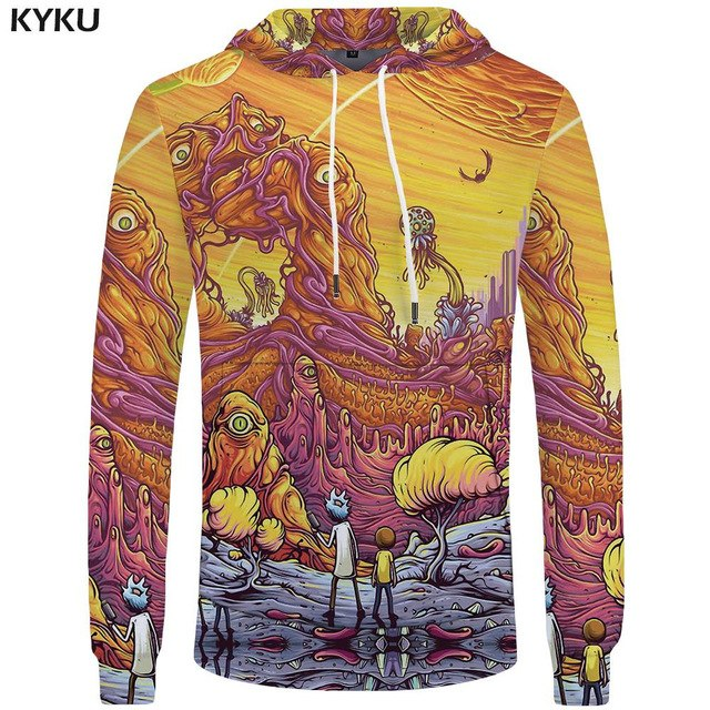Rick Morty Hoodies Men Anime Pocket Rick Big Size Sweatshirt Hoodie 3D Hoodies