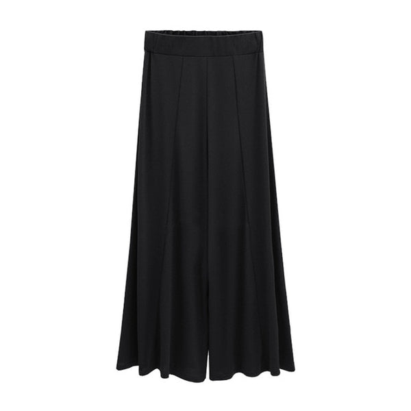 Large Size Women Wide Leg Pants High Elastic Waist Pants Ladies Casual Harajuka Trousers Black Oversized Loose Pantalon