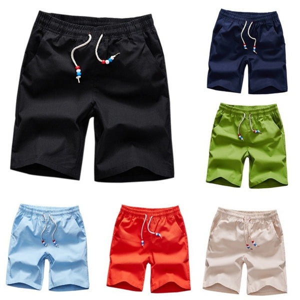 M-5Xl Summer Male Solid Short Pants Fashion Men\'S Casual Solid Wear Beach Shorts Man 6 Color Hot Sell