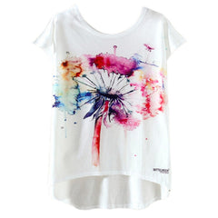 New Arrival Summer Kawaii Cute Casual T Shirt Harajuku High Low Style Print T Shirt Women Tops Plus Size