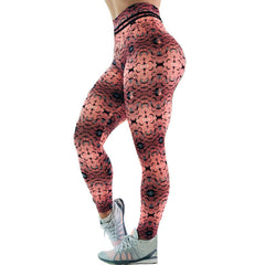 Polygon Printed Hex Paver Leggings Women Fitness High Waist Pants Push Up Elastic Slim Leggins Drop Shipping