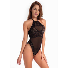 Sexy Cami Bodysuit Women Black Red Sleeveless 2018 Summer Transparent Lace Up Bodysuits Plus Size Ladies Jumpsuit Rompers H9