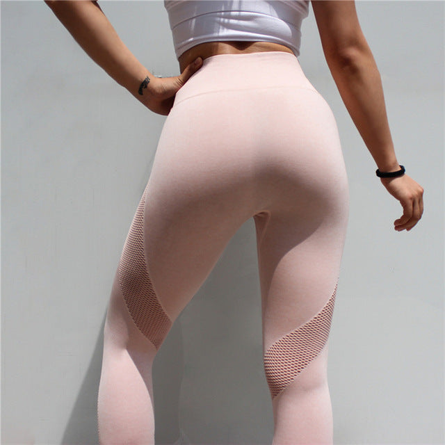 Sportswear Woman Gym Leggings Fitness Sports Women'S Leggins Clothing Yoga Pants Capris Mesh Training Women Trousers Yoga