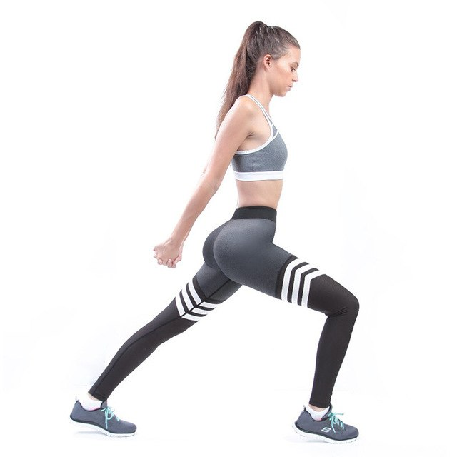 Striped Yoga Pants Leggins Women Fitness Sports Running Leggings