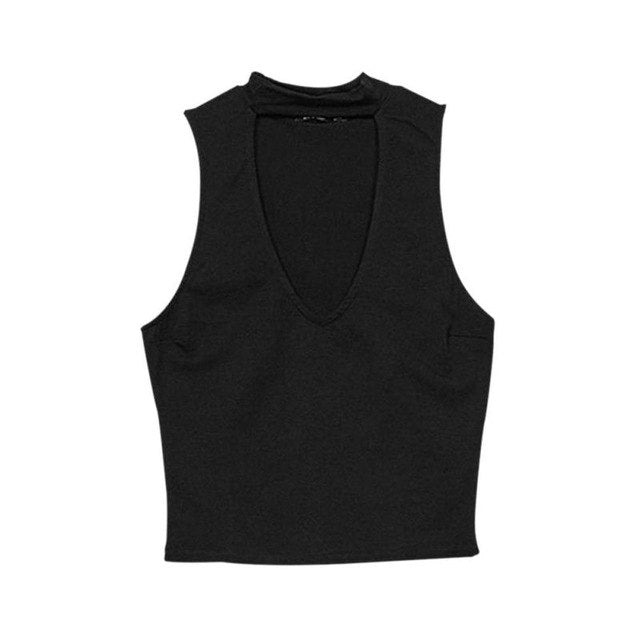 Summer Hoh Halher Deep V-Neck Hank Hops Women Solid Slim Shorh Hanks Bare Midriff Casual Sleeveless Hops Sexy Shreehwear H5