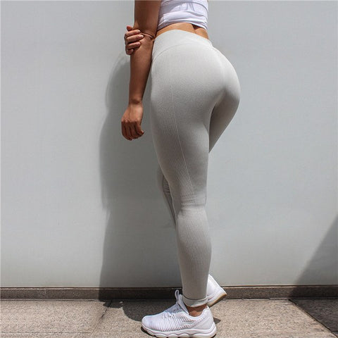 Tights Sportswear Woman Gym Yoga Pants Sports Seamless Sport Leggings Leggins Fitness Compression Solid Slim Running Clothes