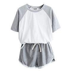 Tracksuit For Women Spring And Summer Short Sleeve T-Shirt And Shorts Suits Casual 2 Pcs Sets H7