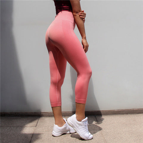 Women High Elastic Fitness Sport Leggings Yoga Pants Slim Running Tights Sportswear Sports Pants Trousers Clothing