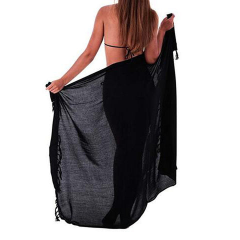 Holiday Beach Skirt Multifunction Solid Cover Up Sarong Swimsuit Cover-Up Smock Year Gift