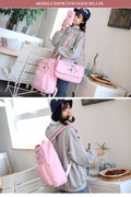 Luminous Canvas Girls Backpacks High Quality Teenager for School
