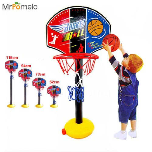 Kids Outdoor Sports Portable Basketball Toy Set with Stand Ball Pump