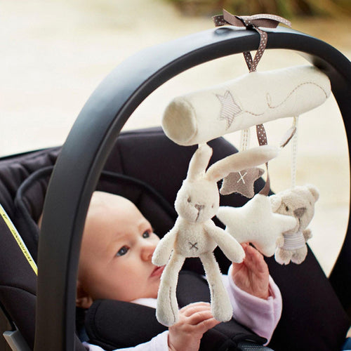 Music Brinquedo Educativo Rattles Crib Stroller Baby Rabbit Star Shape Plush Toys