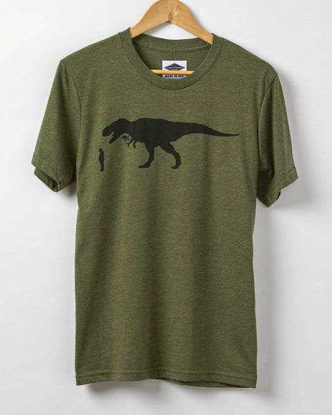 Resist Shirt - Trump About To Be Eaten By A Flag Waving T-Rex - Men's T-Shirt - Resist Trump Shirt - Made in USA