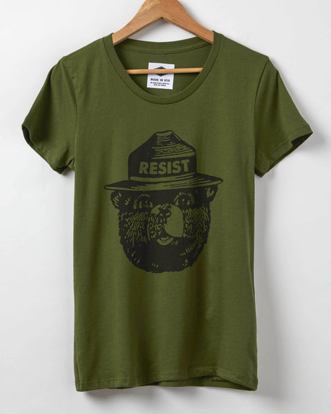 Smokey the Bear Resist - Women's T-Shirt - Olive